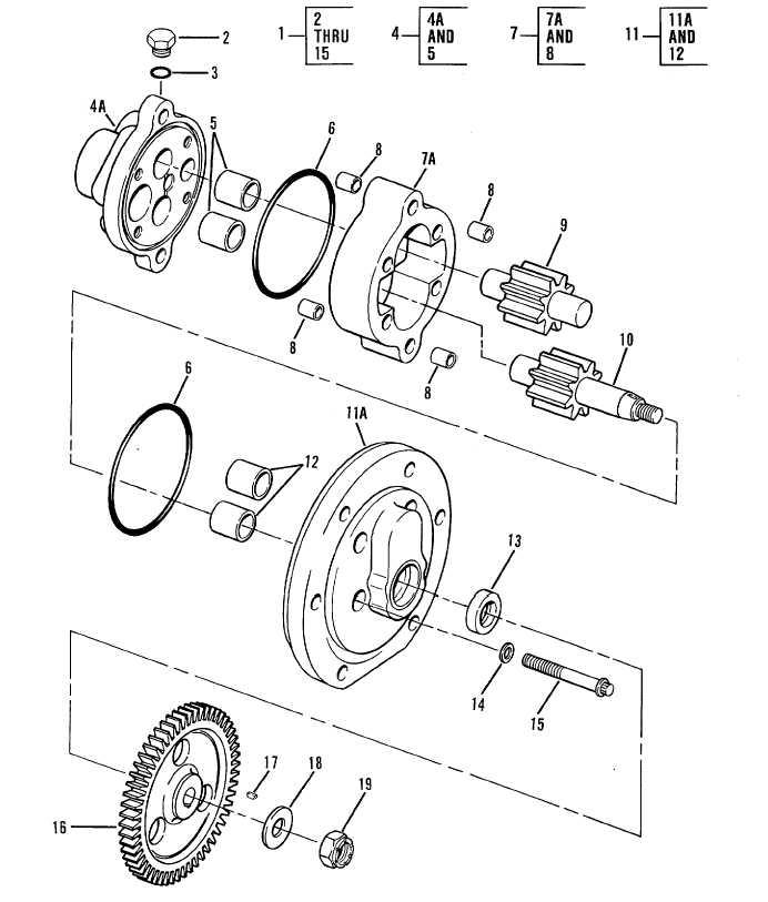 Gear Pump Assembly Winch Gear Pump Assembly