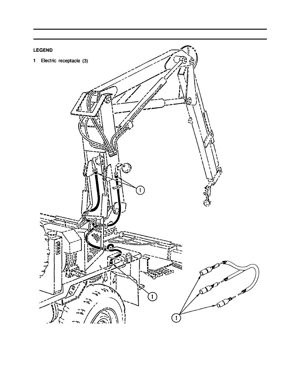 crane mast floodlight wiring harness replacement